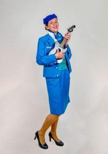 Zingende Stewardess